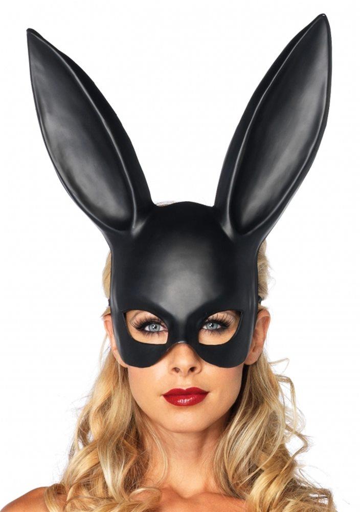 Picture of Black Bondage Bunny Mask