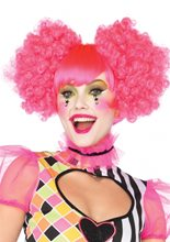 Picture of Harlequin Neon Curly Wig