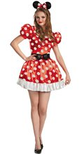 Picture of Red Minnie Mouse Classic Adult Womens Costume