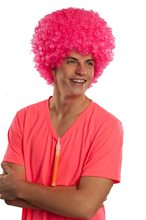 Picture of Pink Neon Afro Adult Wig