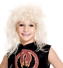 Picture of 80s Rock Star Blonde Child Wig