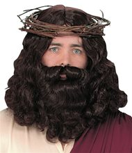 Picture of Jesus Adult Wig and Beard