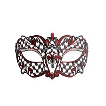 Picture of Metal Venetian Black With Red Half Mask