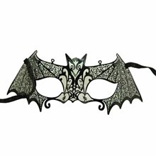 Picture of Venetian Black Metal Bat Half Mask
