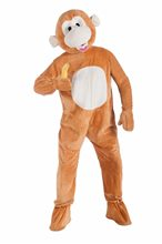 Picture of Monkey Jumpsuit Mascot Costume