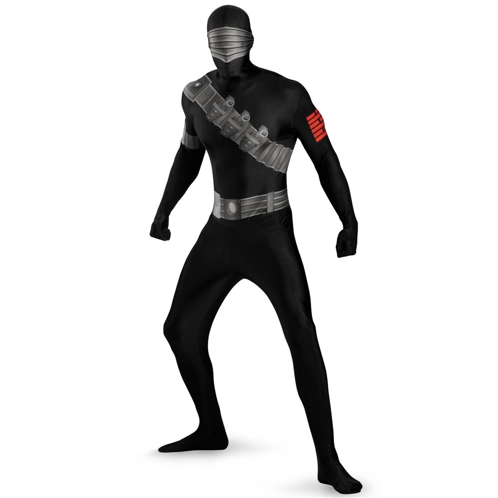 Picture of G.I. Joe Snake Eyes Bodysuit Plus Size Adult Mens Costume