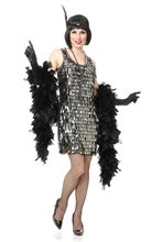 Picture of Silver Crystal Teardrop Flapper Adult Womens Costume