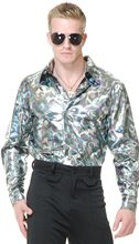 Picture of Silver Circles Disco Shirt Adult Mens Costume