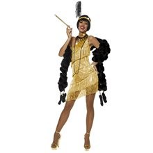 Picture of Gold Dazzling Flapper Dress Adult Womens Costume