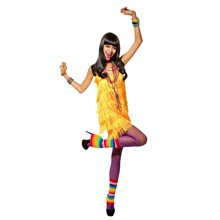 Picture of Fringe Party Dress Tangerine Adult Costume