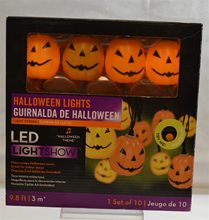 Picture of Musical Halloween LED Pumpkin Lights 10ct