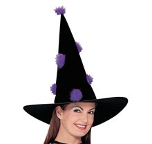 Picture of Black & Purple Witch Hat