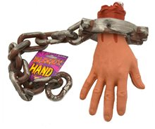Picture of Bloody Severed Hand On Chain
