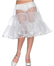 Picture of White Shimmer Organza Petticoat
