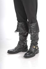 Picture of Black Deluxe Pirate Boot Tops