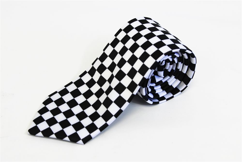 Picture of Black and White Checker Tie