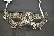 Picture of Silver Metal Venetian With Faux Diamonds Mask