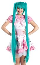 Picture of Turquoise Pigtails Long Cosplay Wig