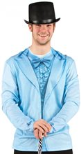 Picture of Blue Tuxedo Adult Mens Shirt