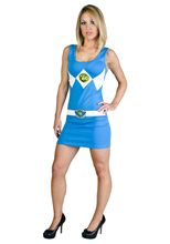 Picture of Power Ranger Blue Tank Dress Adult Womens Costume