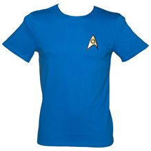 Picture of Star Trek Science & Medical Blue Mens Shirt