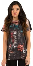 Picture of Corset Zombie Adult Womens Shirt