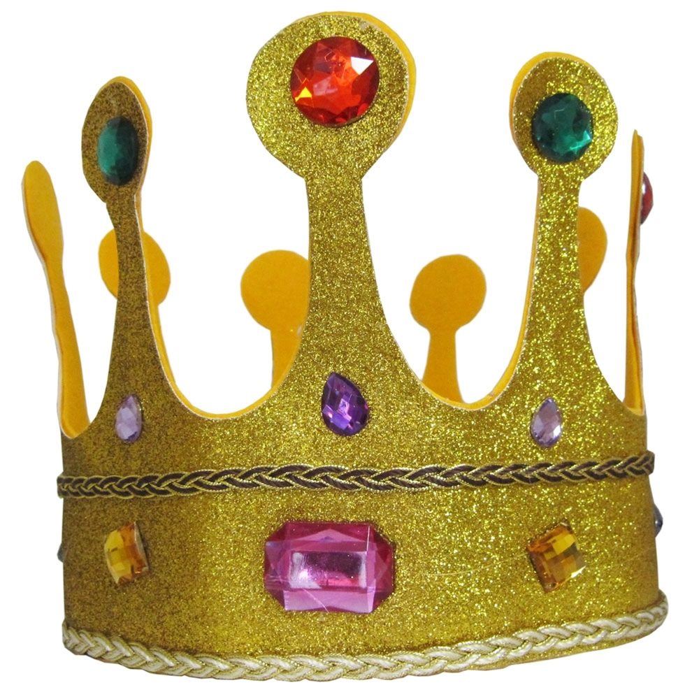 Picture of Gold Glitter Jeweled Queens Crown