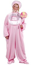 Picture of Pink Baby Jammies Plus Size Adult Womens Costume