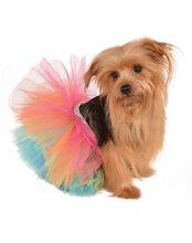 Picture of Rainbow Tutu Pet Costume