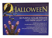 Picture of Solar Powered Purple LED Mini Lights 50ct