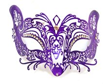 Picture of Purple Metal Venetian Mask