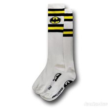 Picture of Batman White Knee High Socks
