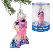 Picture of Lederhosen Unicorn Ornament