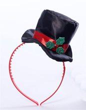Picture of Mini Top Hat With Mistletoe Headband