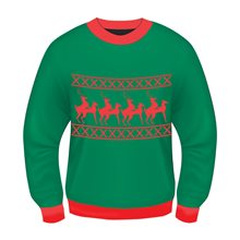Picture of Inappropriate Reindeer Games Adult Mens Sweater