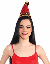 Picture of Leopard Santa Headband With Holly