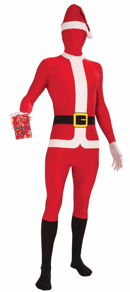 Picture of Santa Claus Disappearing Man Adult Mens Skin Costume