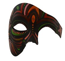 Picture of Day of the Dead Black & Burgundy Half Mask