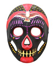 Picture of Day of the Dead Black & Magenta Mask