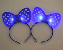 Picture of Bow-Tie Flashing Blue Headband Pack