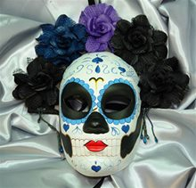Picture of Day of the Dead Blue & Purple Mask