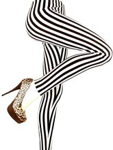 Picture of Black & White Striped Leggings