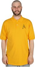 Picture of Star Trek Commander Adult Mens Yellow Polo