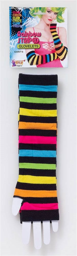 Picture of Rainbow Striped Gloves