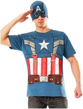 Picture of Captain America Retro T-Shirt & Mask Adult Mens Costume