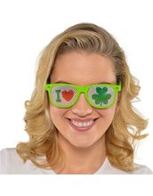 Picture of St. Patrick's Day I Heart Shamrocks Glasses