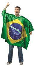 Picture of Brazil Flag Tunic Adult Unisex Costume