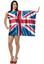 Picture of UK Flag Dress Adult Womens Costume