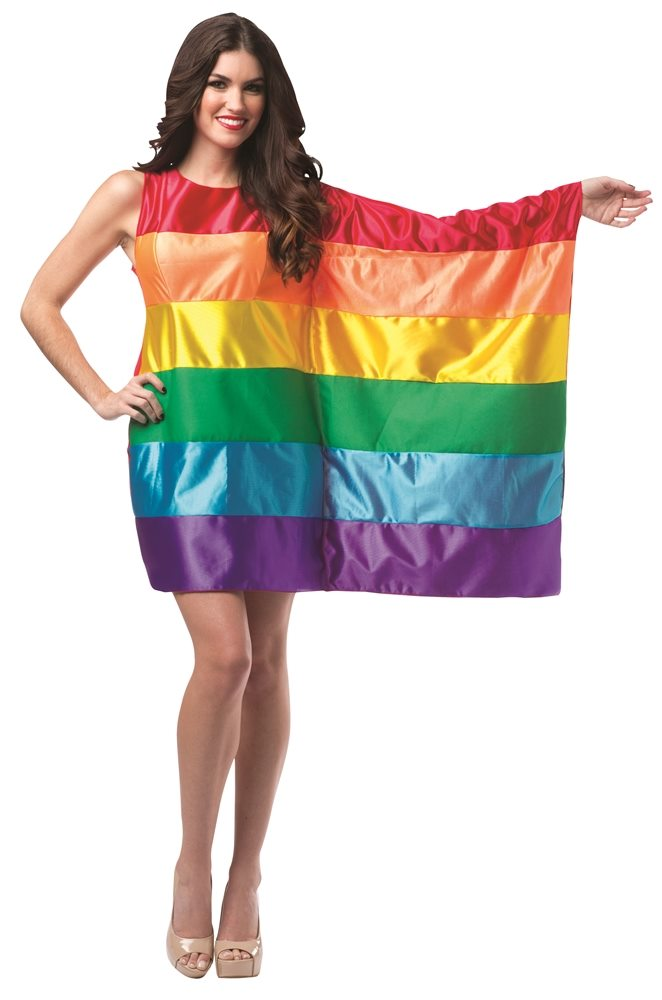 Picture of Rainbow Flag Dress Adult Womens Costume