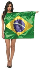 Picture of Brazil Flag Dress Adult Womens Costume